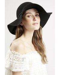 Topshop Plaited Trim Floppy Hat - Lyst