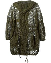 Mr & Mrs Furs Lace Drawstring Hood Jacket - Lyst