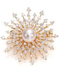Adriana Orsini - Fireworks Faux Pearl Pin - Lyst