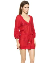 Vix Solid Red Julie Tunic - Solid Red - Lyst