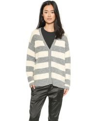 Elizabeth And James Boyfriend Cardigan - Greycream - Lyst