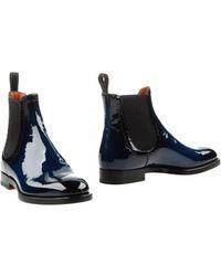 Santoni Ankle Boots - Lyst