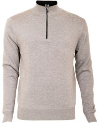 Cutter & Buck - Zip Neck Lined Jumper - Lyst