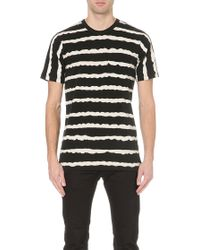 G-star Raw Stripe Print T-shirt Black - Lyst