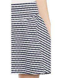 Jay Ahr - Studded Striped Miniskirt - Navy/white - Lyst