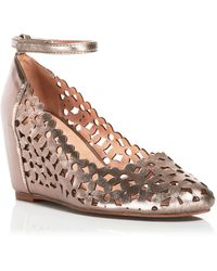 Jeffrey Campbell Wedge Pumps - Delaisy Metallic Cutout - Lyst
