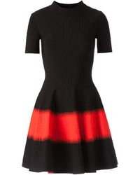 Alexander McQueen Orange A-Line Dress - Lyst