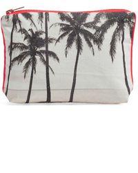 Samudra - 'kalapana' Cotton Canvas Pouch - Lyst