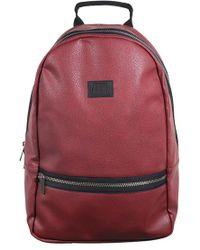 Neff - 'baller' Faux Leather Backpack - Burgundy - Lyst