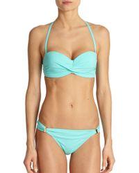 Elizabeth Hurley Beach Carla Bandeau Bikini Top - Lyst