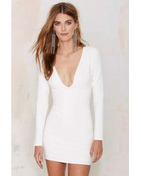 Nasty Gal | Blowing Up Bodycon Dress - Ivory | Lyst
