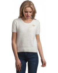 525 America Angora Sweater With Dragon Fly Brooch As Seen In Lucky - Lyst