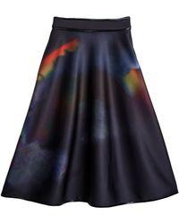 Cynthia Rowley Bonded Midi Skirt - Lyst