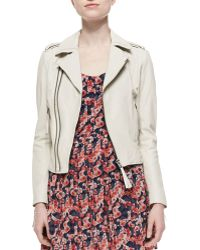 Joie Ailey Paper-Weight Leather Moto Jacket - Lyst