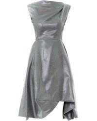 Vivienne Westwood Anglomania Aztec Drape-Shoulder Lurex Dress - Lyst