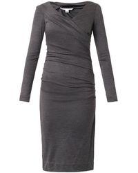 Diane Von Furstenberg Gray Bentley Dress - Lyst