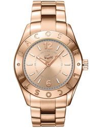 Lacoste Women'S Biarritz Rose Gold Ion-Plated Stainless Steel Bracelet 38Mm 2000754 - Lyst