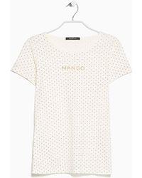 Mango Polka-Dot Logo T-Shirt - Lyst