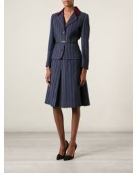 Givenchy Vintage Striped Skirt Suit - Lyst
