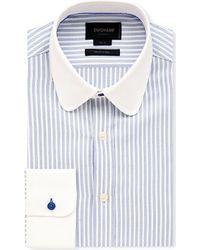 Duchamp Slim-Fit Chevron-Stripe Cotton Shirt - For Men - Lyst