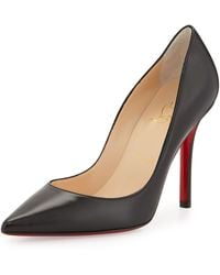 Christian Louboutin Apostrophy Pointed Redsole Pump - Lyst