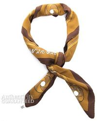 Hermes Pre-Owned Sequences Silk Scarf - Lyst