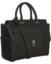 Roberto Cavalli Textured Leather Tote Bag - Lyst