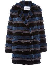 Sonia Rykiel Knitted Tricot Rex Coat - Lyst