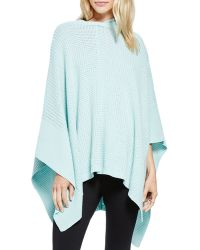 Two By Vince Camuto - Hooded Waffle-knit Poncho - Lyst
