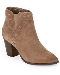 Dolce Vita Cactus Suede Ankle Boots - Lyst