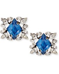 Dannijo Bri Crystal Stud Earrings - Lyst