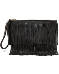 B-Low The Belt - Twiggy Fringe Clutch - Black - Lyst