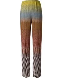 Missoni Zig Zag Crochet Knit Trousers - Lyst