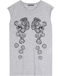 Alexander McQueen Printed Cotton Top - Lyst