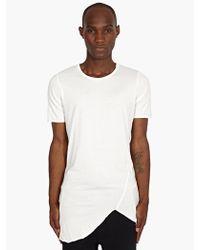 Thom Krom Mens White Rawedge Tshirt - Lyst