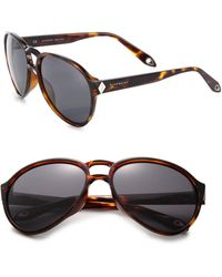 Givenchy 59Mm Aviator Sunglasses - Lyst