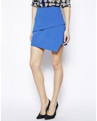 Asos Mini Skirt With Notch Hem - Lyst