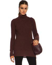 Rick Owens Fisherman Turtle Neck Wool Sweater - Lyst
