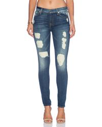 7 For All Mankind The Super Destroy Skinny - Lyst
