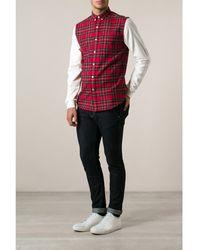 Ami Alexandre Mattiussi Tartan Contrast Sleeve Shirt - Lyst