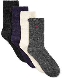 Lauren by Ralph Lauren Wool Donegal Boot Socks - Lyst