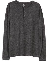 H&M   Henley Shirt   Lyst