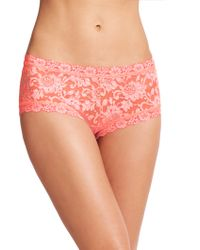 Hanky Panky Cross-Dye Boyshorts orange - Lyst