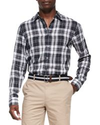 Michael Kors Check Shirt - Lyst