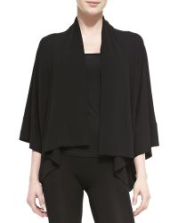 Donna Karan New York Jersey Swing-Sleeve Cardigan - Lyst