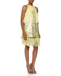 J. Mendel Abstract Silk-Blend Dress - Lyst