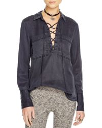 Free People | Under Your Spell Lace Up Top | Lyst