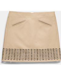 COACH | Grommet Cotton Bandeau Skirt | Lyst