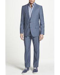 Hugo 'Amaro/Heise' Trim Fit Wool Suit blue - Lyst