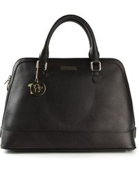 Versace Logo Charm Classic Tote - Lyst